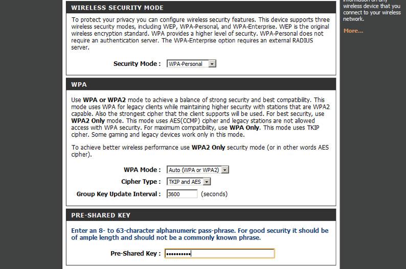... виберіть Auto (WPA or WPA2). Clipher Type — TKIP and AES. Group Key  Update Interval — залиште 3600. У полі Pre-SharedKey введіть пароль для  доступу до ... 3ff5c5a051492