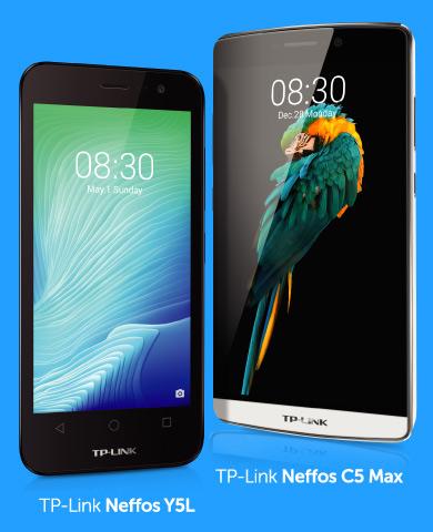 Ілюстрація до пропозиції: мобільні телефони TP-Link Neffos Y5L та TP-Link Neffos C5 Max.