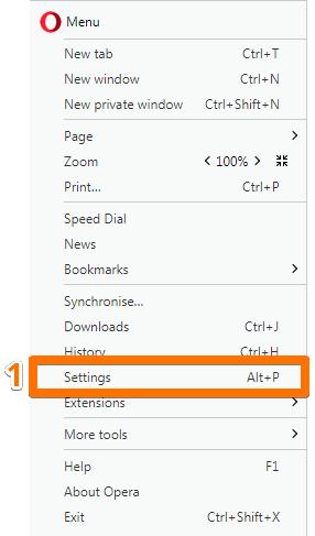 Підписник повинен перейти до налагоджень браузеру: